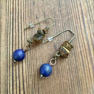 💋5 For $25 Blue Lapis and Tigers Eye Earrings